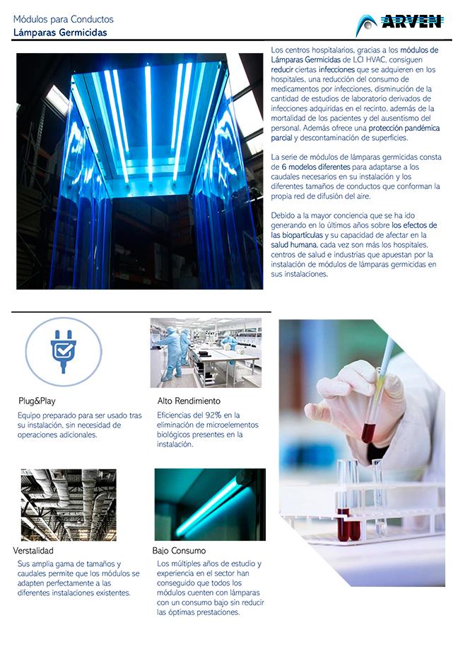 2020 Precios lamparas germicidas (ARVEN)