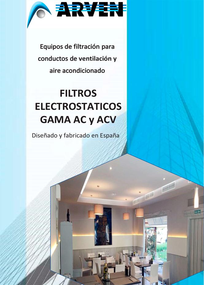 Filtros electrostáticos gama ac-acv arven