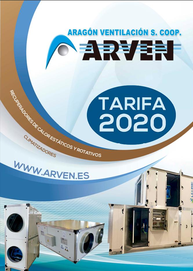Tarifa Recuperadores de Calor - Arven 2020