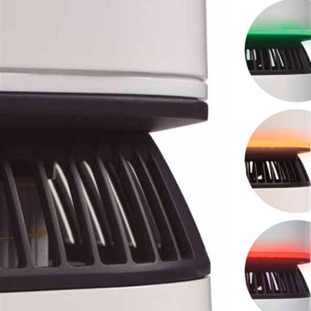 Purificador de aire alta eficacia portátil luz ambiente indicador